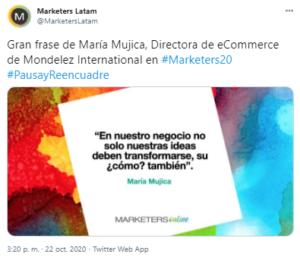tweet con imagen de la cuenta @MarketersLatam