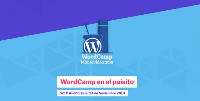 Imagen del logo de WordCamp en Uruguay